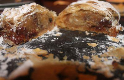 strudel aux pommes et raisins( avec feuilles filo)