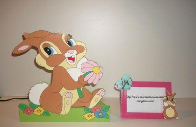 Lampe décorative miss bunny pour chambre enfant