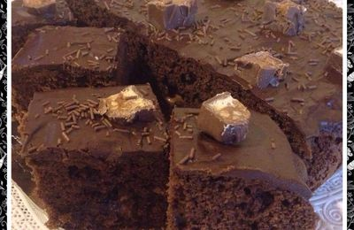 Brownies chocolat au snikers et mars