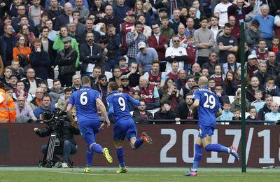 Leicester s'offre un succès précieux contre West Ham (2-3)