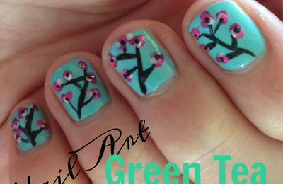 >> Tuto nail art n°7 Arizona Green Tea Nail Art