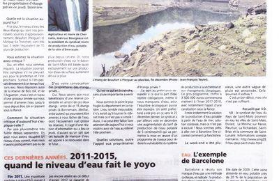 Article de presse : Risque de manque d'eau sur SAINT MALO-35