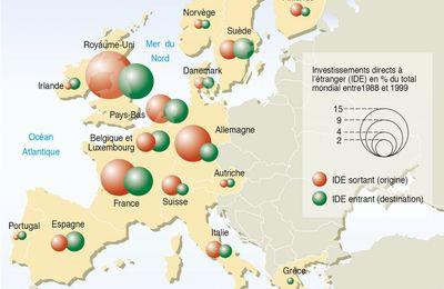 Géographie mondiale des Investissements Directs à l'Etranger (Visioncarto.net)