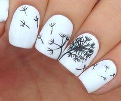 Tuto nail art fleurs (de pissenlit)