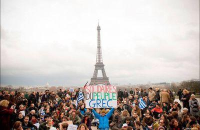 PARTICIPEZ AU RASSEMBLEMENT DE PARIS POUR SOUTENIR LE PEUPLE GREC CONTRE L'AUSTÉRITÉ IMPOSÉE PAR L'UNION EUROPÉENNE..