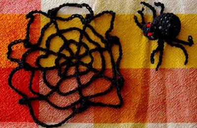 Araignée et sa toile au crochet