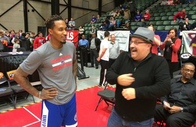 Before-Game : Brandon Jennings : Grand Rapids Drive vs Iowa Energy en D-League