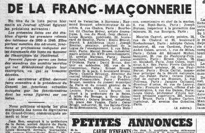 """Franc-Maçonnerie """"MàJ du 21/11/2014"""""""