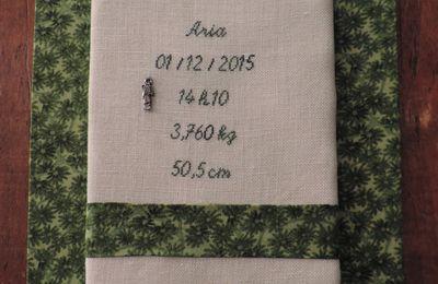 Tableau de naissance pour Aria