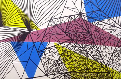 Graphic compositions, acrylic painting