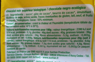 "Chocolat bio mais pas b""i""on"