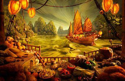 La nourriture en paysage   - Carl Warner
