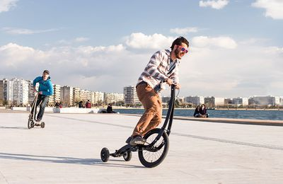 Halfbike is a totally new way to get around that feels like walking and riding a bike at the same time