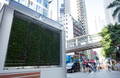 Mobile 'CityTree' installations use moss to clean air in urban areas by GreenCity Solution Berlin