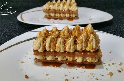 mille-feuilles de crêpes dentelle et crème Paris-Brest pralinée