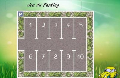 Jeu du parking : Association nombres, constellations du dé et doigts