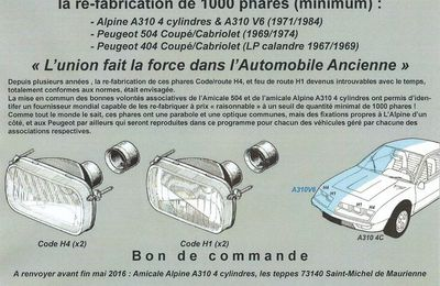 Nachfertigung Scheinwerfer A310 in Frankreich