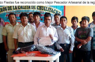 FAUSTINO PAZO FIESTAS FUE RECONOCIDO COMO MEJOR PESCADOR ARTESANAL DE LA REGIÓN PIURA.