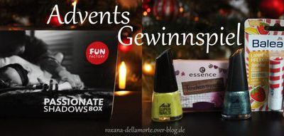 Advents-Gewinnspiel: Passionate Shadows Box & Mini-Kosmetikpaket