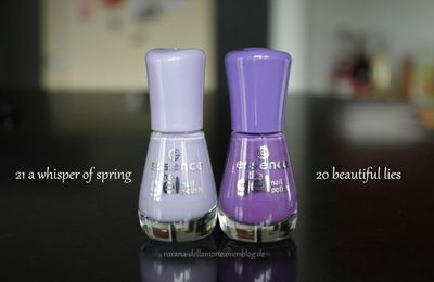 essence: the gel nail polish 21 a whisper of spring & 20 beautiful lies | #longlastinglove