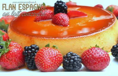 Video flan espagnol au lait concentre