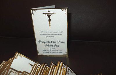 Diptico Folia Jesus 1 tarjetas Agradecimiento de Condolencia
