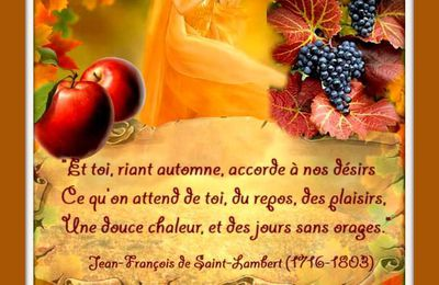 "Citation ""automne""  de Jean-François de Saint-Lambert"