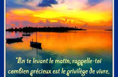 """Citation """"vivre"""" de Marc-Aurèle"""