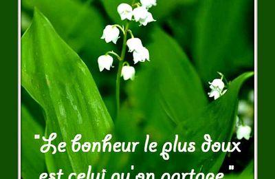 """Citation """"bonheur"""" pour le premier mai"""