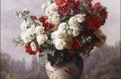 Les fleurs par les grands peintres (41) - Cécile Augustine Bougourd (1857-1941)