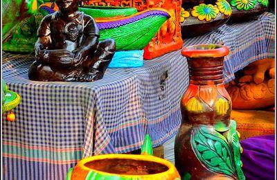 Les couleurs en images - poterie