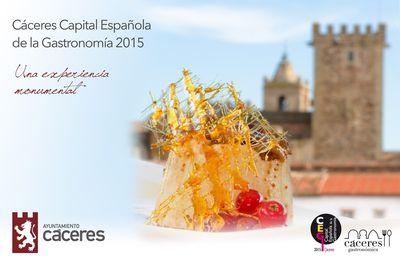 Cáceres: Capital Española de la Gastronomía 2015