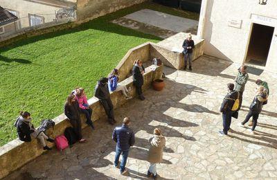 Visite des étudiants de la formation guide interprète de l'université de Corse