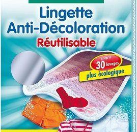 Lingettes anti-décoloration pour la lessive