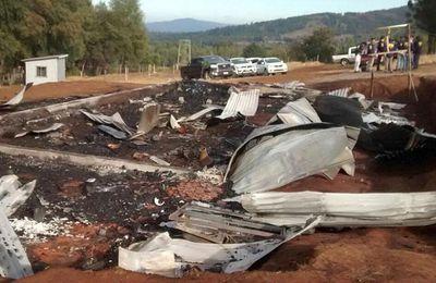 Chile: Una segunda iglesia fue quemada esta madrugada en La Araucanía