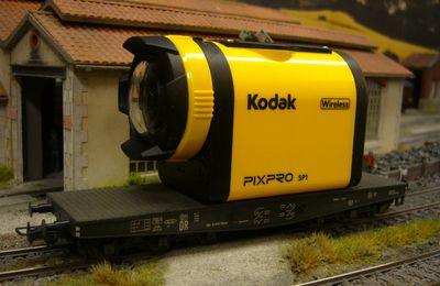 construction wagon porte caméra embarquée KODAK