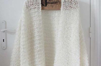 Une veste en grosse laine vite faite