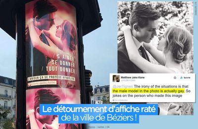 Le détournement d'affiche raté de la ville de Béziers ! #Fail