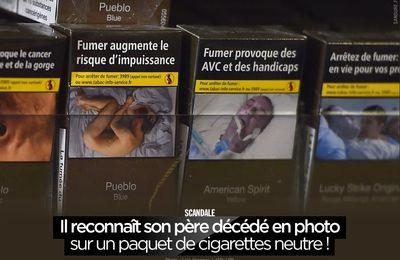 Il reconnaît son père décédé en photo sur un paquet de cigarettes neutre ! #fumertue