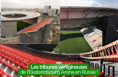 Les tribunes vertigineuses de l'Ekaterinbourg Arena en Russie ! #WorldCup