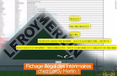 Fichage illégal des intérimaires chez Leroy Merlin ! #fichage