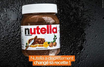 Nutella a discrètement changé sa recette ! #Nutella