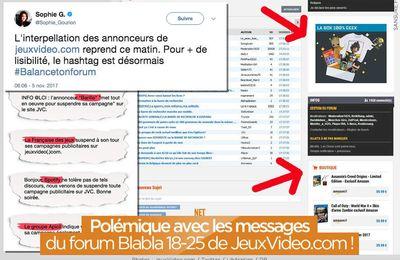 Polémique avec les messages du forum Blabla 18-25 de JeuxVideo.com ! #Balancetonforum