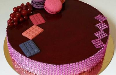 Entremet fruits rouge