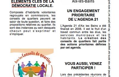 Les conseils de quartier à Chambéry et à Aix-les-bains