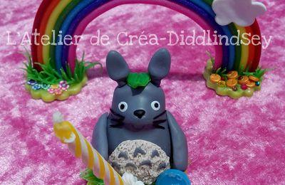 """Décoration de gâteaux """"Ma première bougie Mon voisin Totoro"""""""