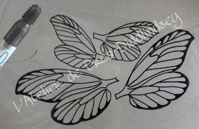tutoriel ailes de fée pour fée modelée en porcelaine froide et autres pâte de modelage