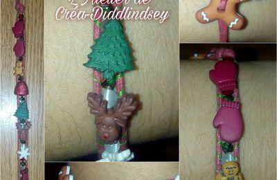 Bracelet wrap de Noël réalisé sur le wrapit Rainbow loom