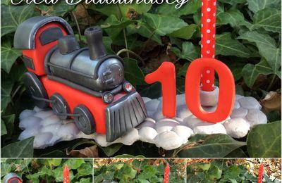 Bougies locomotive en porcelaine froide Brazil biscuits et porcelaine froide maison.