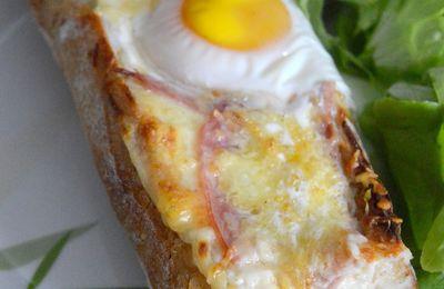 Baguette Croque-Madame Végétarien